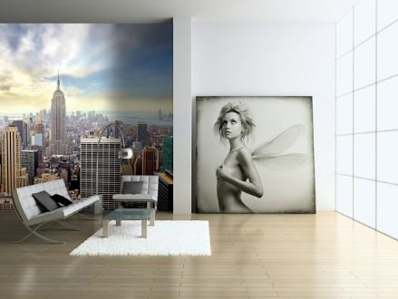 Skyline New York - blue sky wall mural